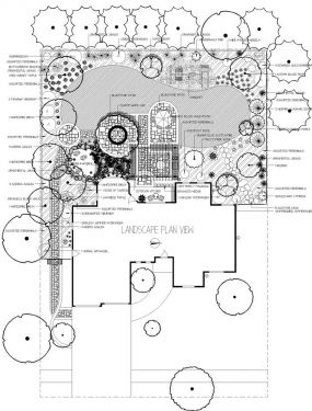 Sample landscape design plan